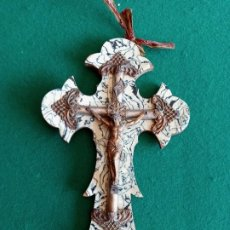 Antigüedades: ANTIGUA CRUZ DE METAL PP.SXX. Lote 194678925