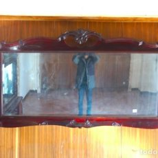Antigüedades: ESPEJO HORIZONTAL GRANDE DE MADERA MODERNISTA. Lote 194680250