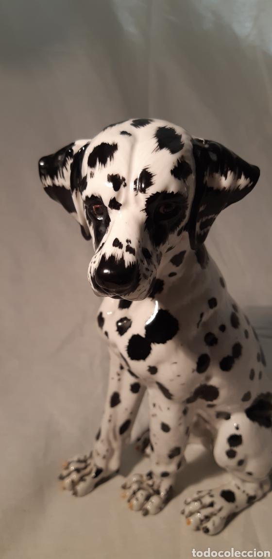 Antigüedades: Precioso perro Dalmata de porcelana , 22cm x 17cm firmado C.Martino - Foto 5 - 194684883