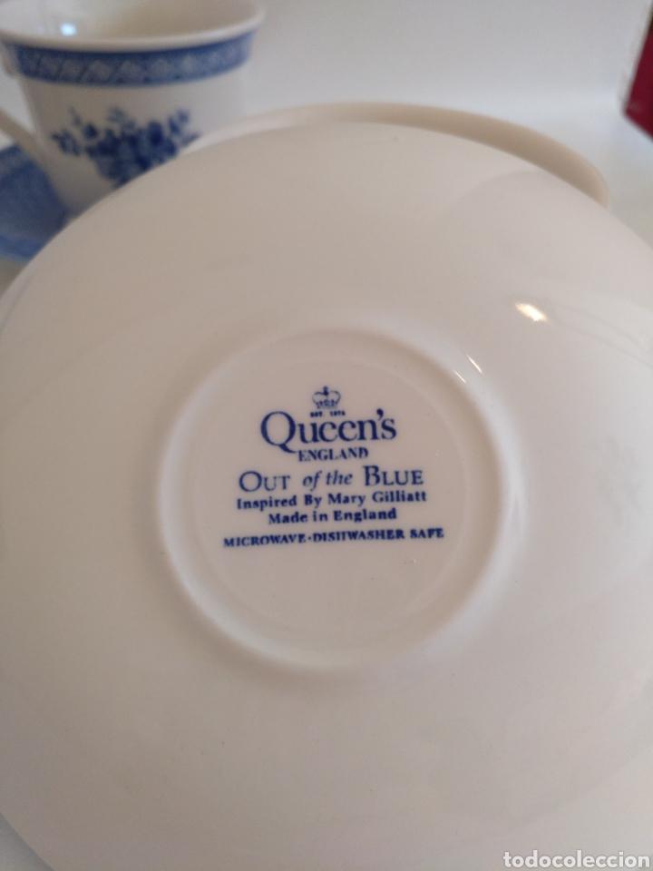 Antigüedades: 4 tazas desayuno con plato Churchill Queens - Foto 2 - 194686026