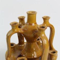 Antigüedades: CANDELABRO DE CERAMICA ESMALTADA. S.XX.. Lote 194686743