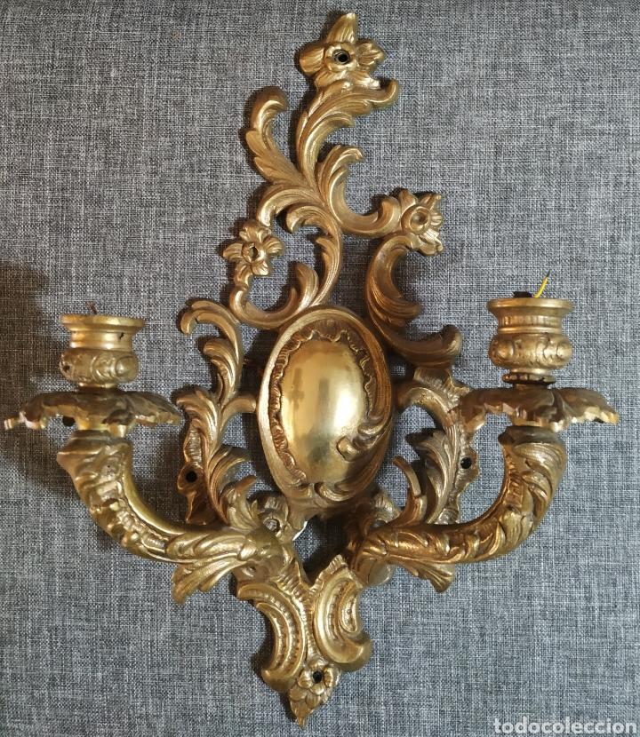 ANTIGUO APLIQUÉ DE LAMPARA XX (Antigüedades - Iluminación - Apliques Antiguos)