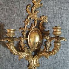 Antigüedades: ANTIGUO APLIQUÉ DE LAMPARA,BRONCE XX. Lote 194687025