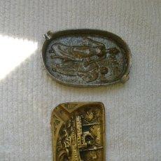 Antigüedades: OCASIÓN!! LOTE 3 CENICEROS ANTIGUOS MODERNISTAS ARTE EROTICO ,Y , NAVAL.. Lote 194687688