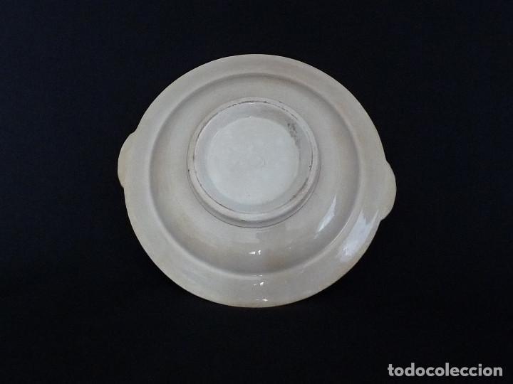 Antigüedades: Frutero o base de legumbrera blanca. - Foto 3 - 194688151