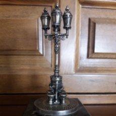 Antigüedades: ANTIGUA FIGURA DE PLATA, FUENTE DE CANALETAS, BARCELONA. Lote 194697378
