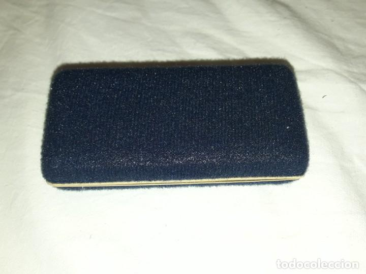 Antigüedades: Bello alfiler o pasador de corbata escudo Zaragoza en su caja baño oro y esmalte marca Inglesa Hawk - Foto 4 - 194699921