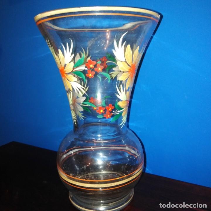 ANTIGUO JARRÓN DE CRISTAL DE LA GRANJA (Antigüedades - Cristal y Vidrio - Otros)