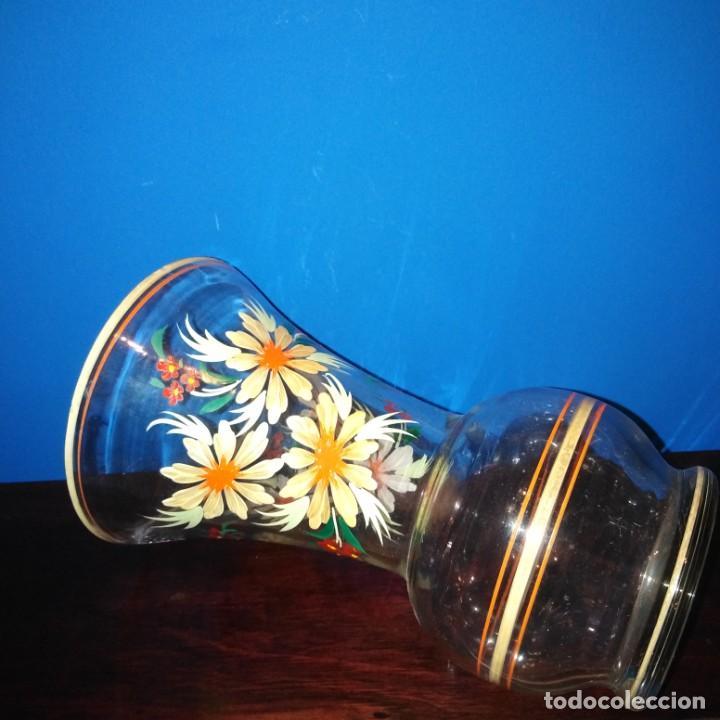 Antigüedades: Antiguo Jarrón de cristal de la Granja - Foto 3 - 194701940