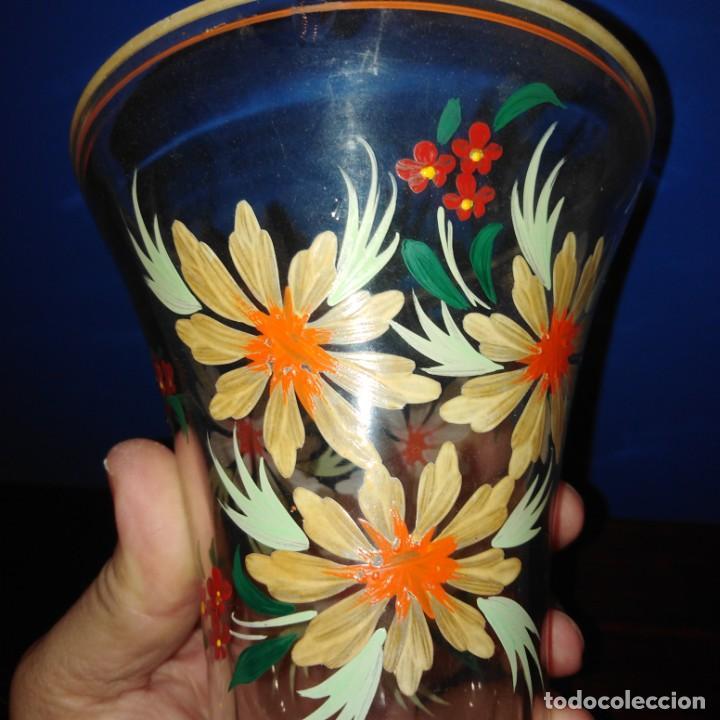 Antigüedades: Antiguo Jarrón de cristal de la Granja - Foto 4 - 194701940