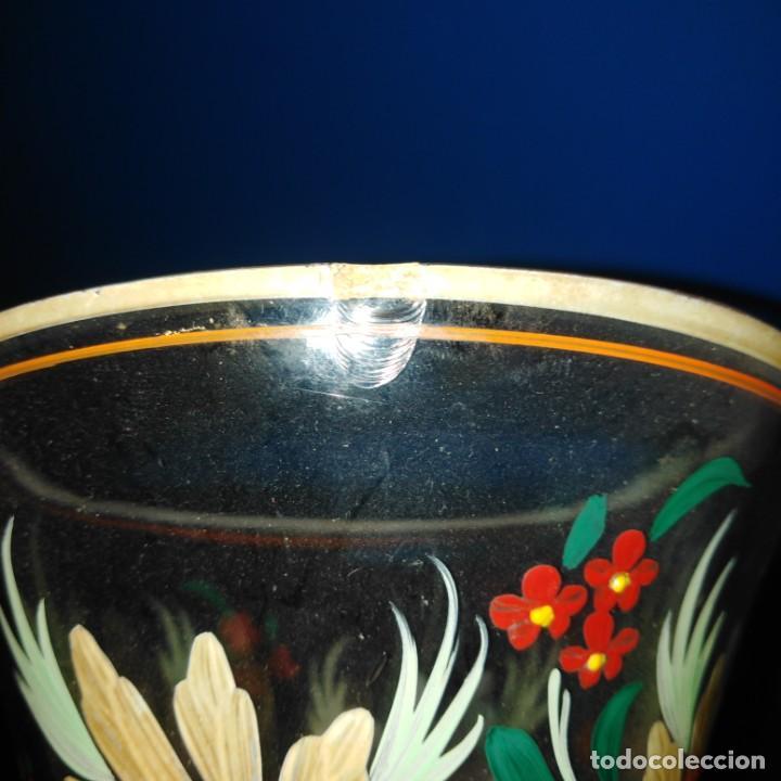 Antigüedades: Antiguo Jarrón de cristal de la Granja - Foto 5 - 194701940