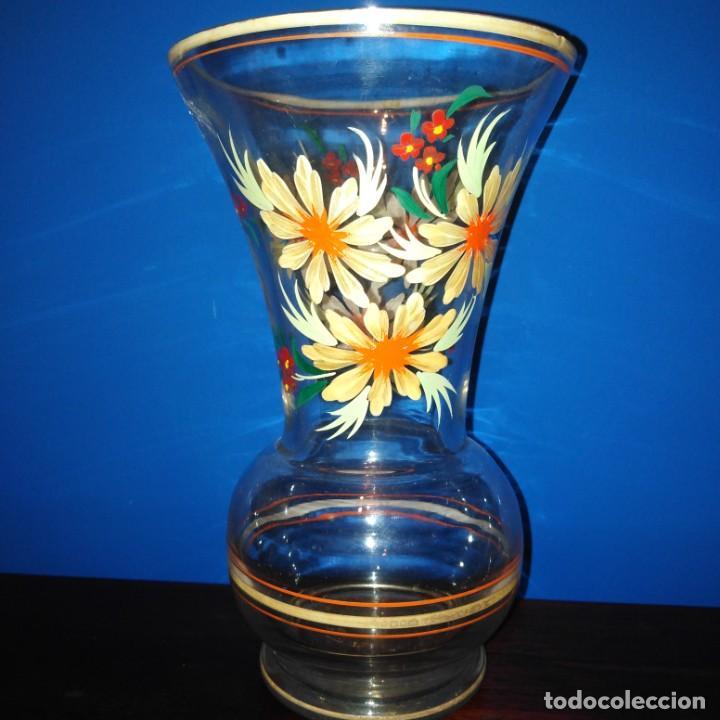 Antigüedades: Antiguo Jarrón de cristal de la Granja - Foto 6 - 194701940