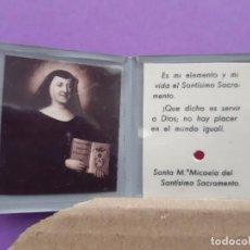 Antigüedades: RELICARIO SANTA Mª MICAELA SANTISIMO SACRAMENTO . Lote 194702230