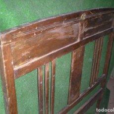 Antigüedades: CABECERO DE CAMA MADERA, ANCHO 120CM X 113CM ALTURA. Lote 194707150