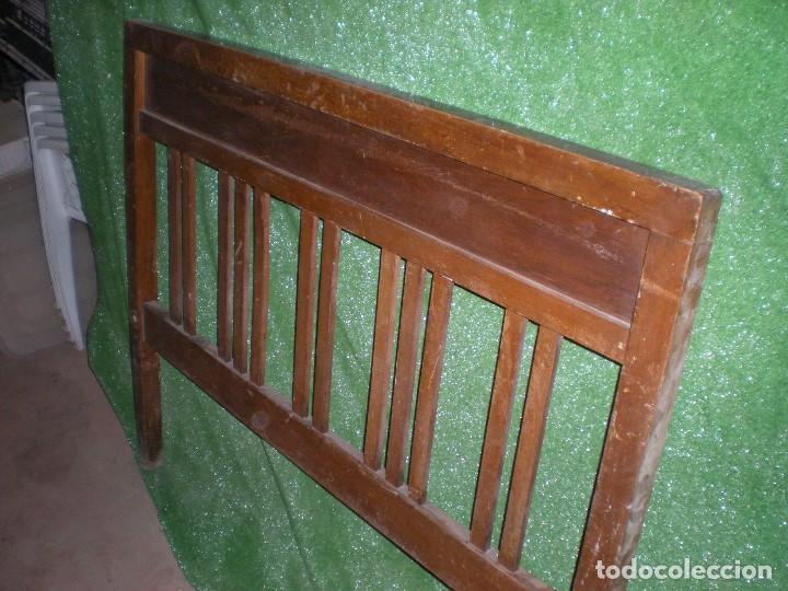 CABECERO DE CAMA MADERA, ANCHO 115CM X 95CM ALTURA (Antigüedades - Muebles Antiguos - Camas Antiguas)