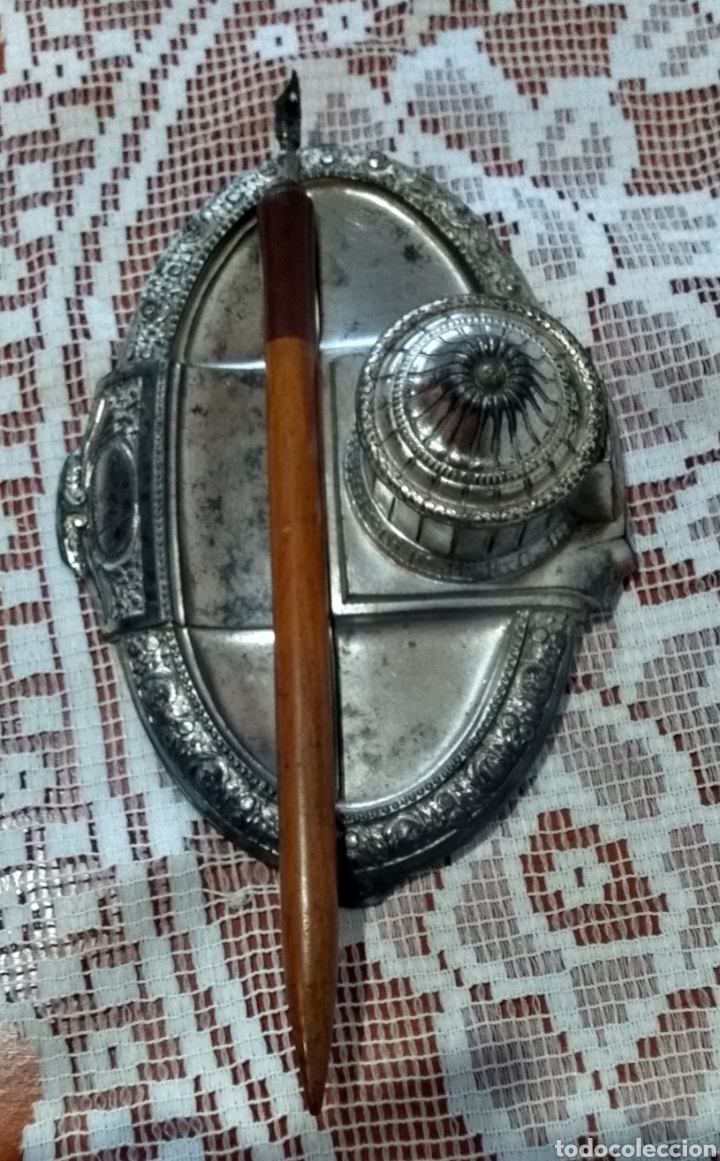 Antigüedades: MUY DIFÍCIL ( JUEGO ESCRIBANÍA METAL, PLUMA MADERA PLUMÍN RECAMBIABLE ).MÁS PLUMAS ANTIG. MI PERFIL - Foto 7 - 194708140