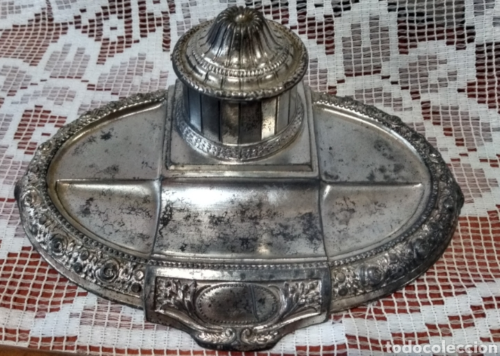 Antigüedades: MUY DIFÍCIL ( JUEGO ESCRIBANÍA METAL, PLUMA MADERA PLUMÍN RECAMBIABLE ).MÁS PLUMAS ANTIG. MI PERFIL - Foto 12 - 194708140