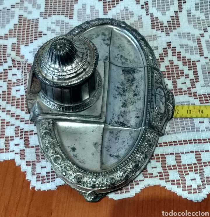 Antigüedades: MUY DIFÍCIL ( JUEGO ESCRIBANÍA METAL, PLUMA MADERA PLUMÍN RECAMBIABLE ).MÁS PLUMAS ANTIG. MI PERFIL - Foto 15 - 194708140