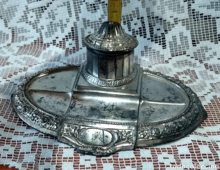 Antigüedades: MUY DIFÍCIL ( JUEGO ESCRIBANÍA METAL, PLUMA MADERA PLUMÍN RECAMBIABLE ).MÁS PLUMAS ANTIG. MI PERFIL - Foto 16 - 194708140