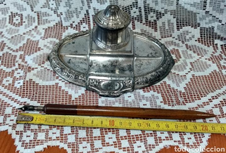 Antigüedades: MUY DIFÍCIL ( JUEGO ESCRIBANÍA METAL, PLUMA MADERA PLUMÍN RECAMBIABLE ).MÁS PLUMAS ANTIG. MI PERFIL - Foto 17 - 194708140