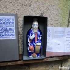 Antigüedades: BOTELLA AGUARDIENTE PROFETA PORTICO DE LA GLORIA ' SANTIAGO EL MAYOR ' Nº 1291/1993, INC CAJA + INFO. Lote 194709072