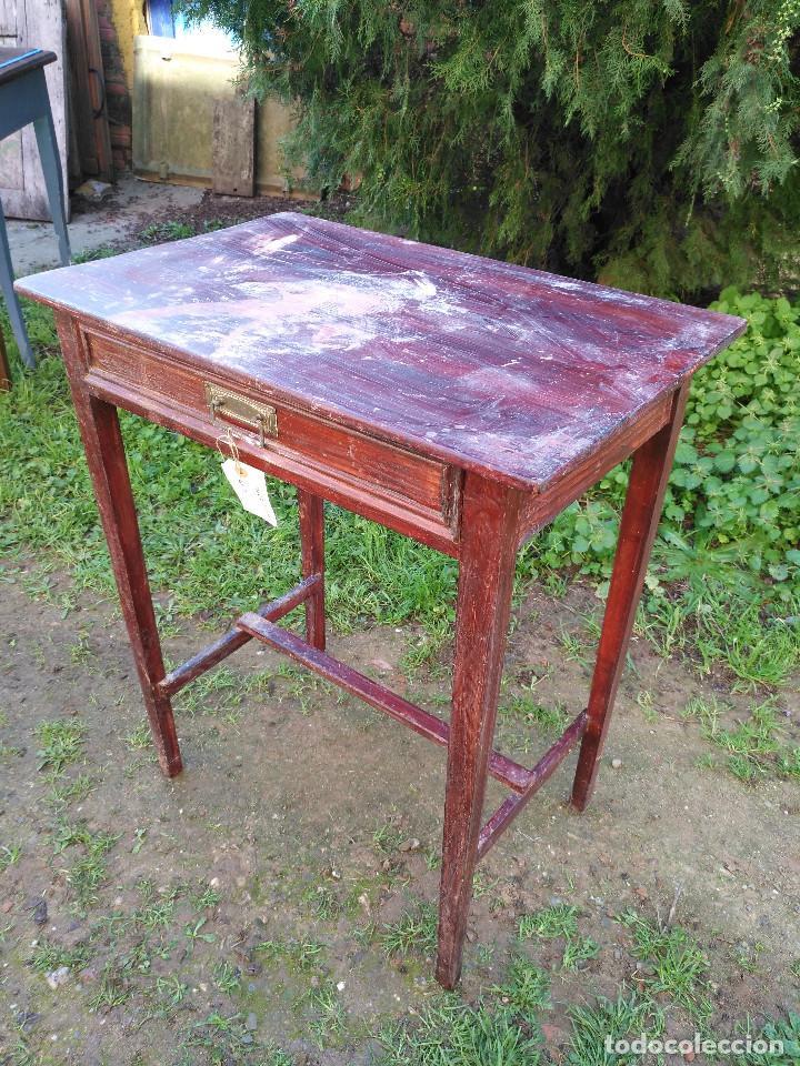 Antigüedades: Mesita pintado rojo - Foto 4 - 194710375
