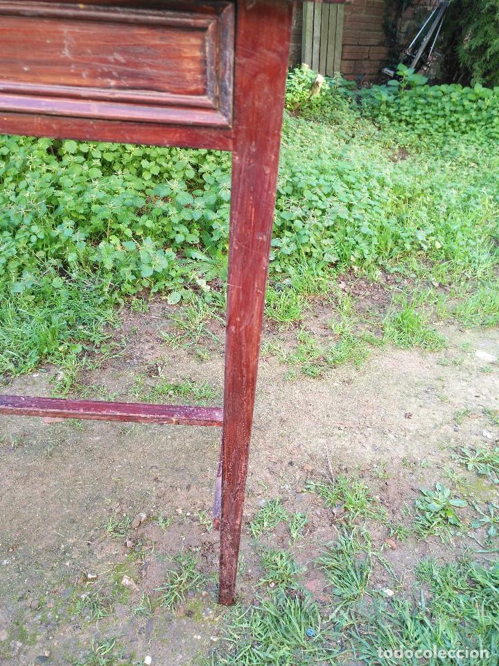 Antigüedades: Mesita pintado rojo - Foto 5 - 194710375