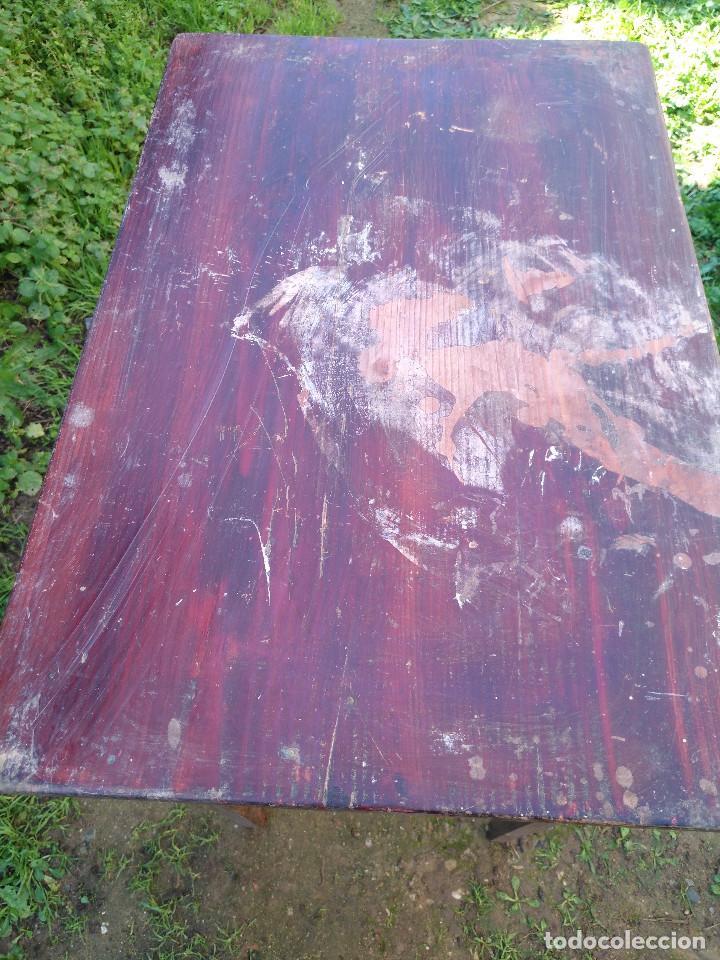 Antigüedades: Mesita pintado rojo - Foto 7 - 194710375