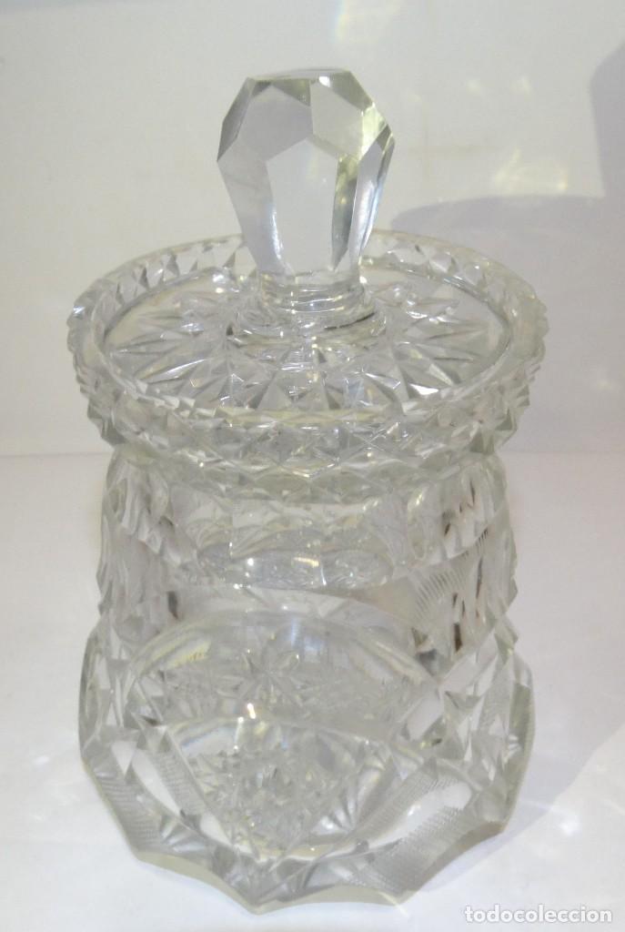 Antigüedades: Azucarero de cristal de bohemia. - Foto 2 - 194710705