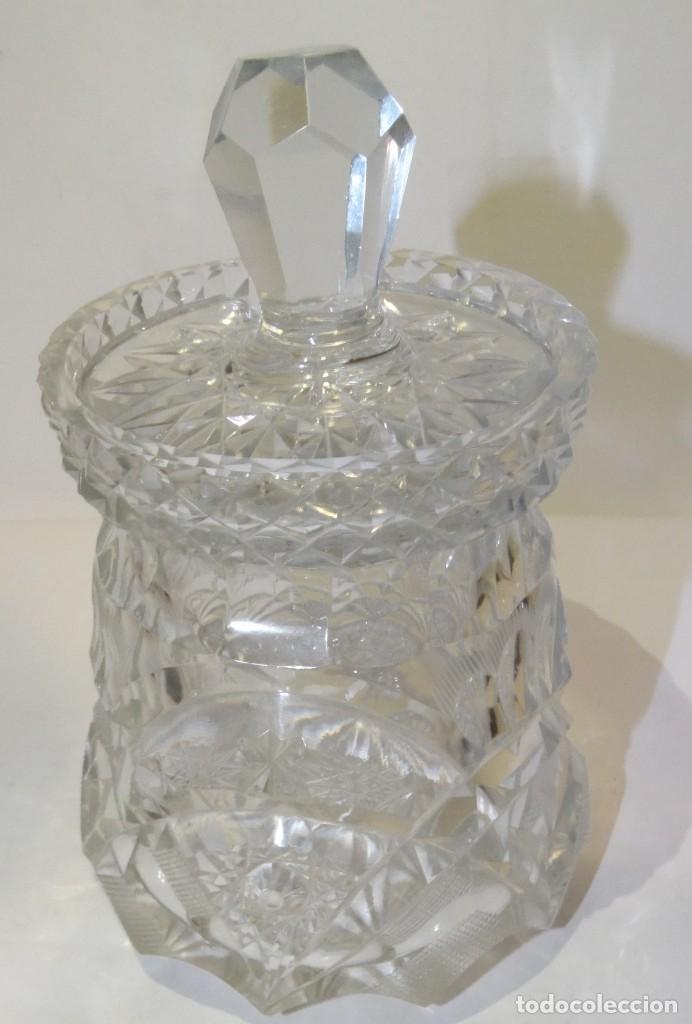 Antigüedades: Azucarero de cristal de bohemia. - Foto 4 - 194710705