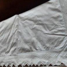 Antigüedades: ANTIGUA SABANA CON CROCHET.. Lote 194725948