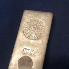Antigüedades: LINGOTE DE PLATA FINA 999 DE 1/2 KILO - SEMPSA - NUMERADO. Lote 194727293