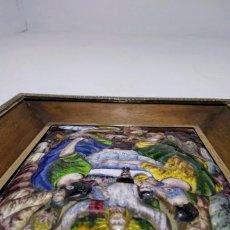 Antigüedades: SANTA CENA DOMENECH SOLER CABOT- RELIEVE DE COPA PLATA . Lote 194727893