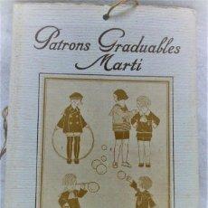Antigüedades: PATRONES GRADUABLES MARTÍ.EDICIONES MARTÍ,GARÇONS Nº 2-23.CUADERNO LÁMINAS Y 2 PLANCHAS PATRONES. Lote 194729162