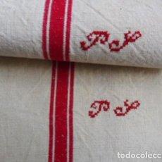 Antigüedades: DOS ANTIGUAS TOALLAS DE LINO S. XIX. Lote 194732226