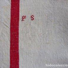 Antigüedades: DOS ANTIGUAS TOALLAS DE LINO S. XIX. Lote 194733133