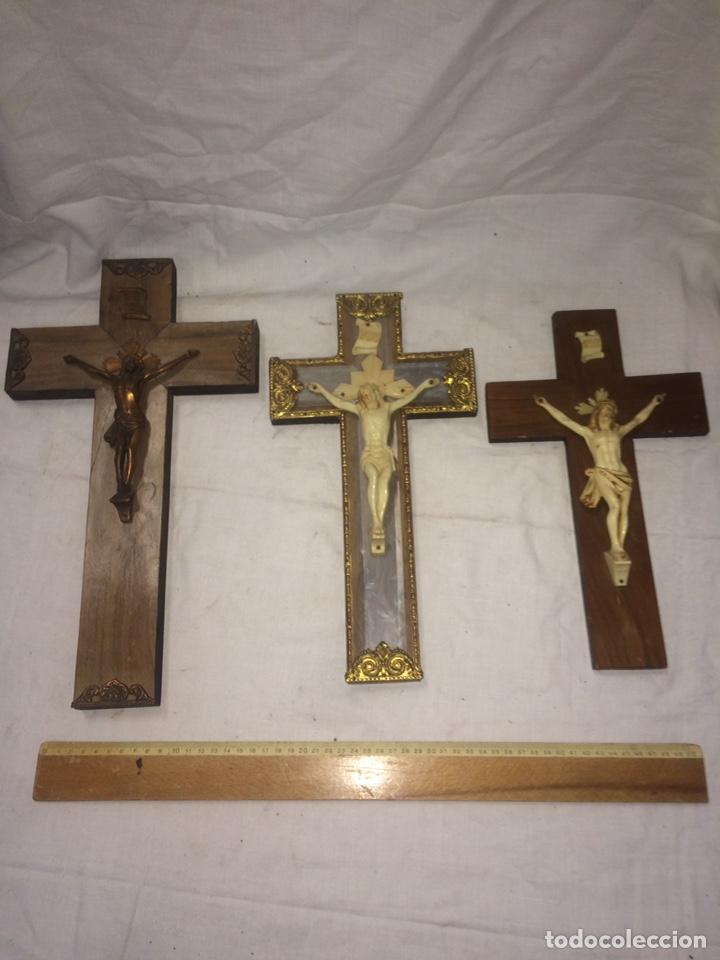LOTE DE PRECIOSOS CRUCIFIJOS ANTIGUOS! (Antigüedades - Religiosas - Crucifijos Antiguos)