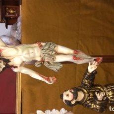 Antigüedades: TALLA EN MADERA DE SAN FRANCISCO Y CRISTO. Lote 194734701