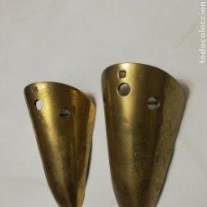 Antigüedades: PAREJA APLIQUE LAMPARA DE PARED ESCULTURA EN BRONCE DAVID MARSHALL FIRMADA VINTAGE AÑOS 70. Lote 194735358