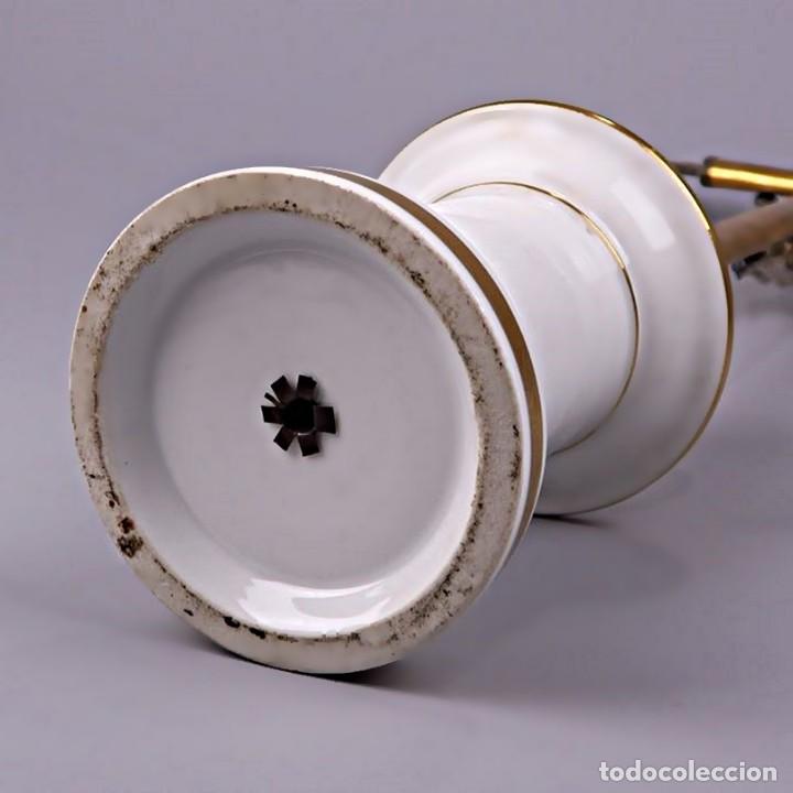 Antigüedades: C1840 - IMPORTANTE CRUCIFIJO DE ALTAR ANTIGUO EN PLATA CON SELLO JANUS - ALTO 60CM - PORCELANA FOTOS - Foto 33 - 194736022