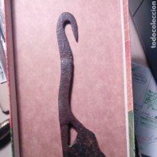Antigüedades: CONTRAPESO DE TELAR - TEXTIL HIERRO FORJADO. Lote 194736030