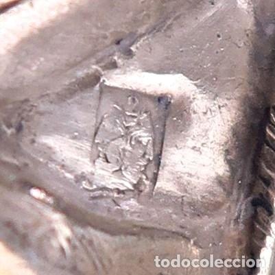Antigüedades: C1840 - IMPORTANTE CRUCIFIJO DE ALTAR ANTIGUO EN PLATA CON SELLO JANUS - ALTO 60CM - PORCELANA FOTOS - Foto 10 - 194736022