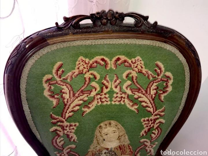 Antigüedades: Silla Victoriana con escabel - Foto 2 - 194736912