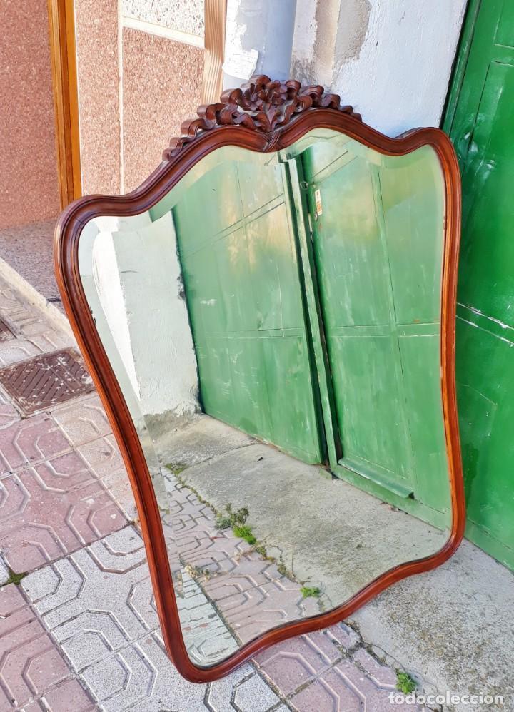 Antigüedades: Espejo antiguo estilo isabelino. 111cm x 79cm. Espejo antiguo vintage estilo Luis XV. - Foto 2 - 194737660