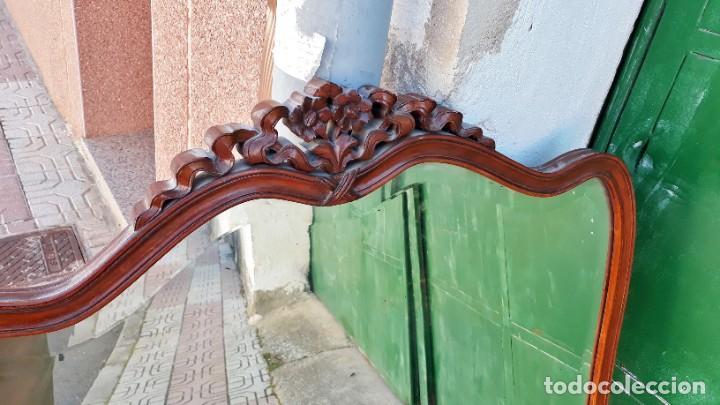 Antigüedades: Espejo antiguo estilo isabelino. 111cm x 79cm. Espejo antiguo vintage estilo Luis XV. - Foto 3 - 194737660