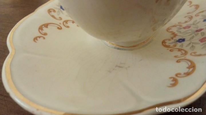 Antigüedades: (ver fotos)Antigua Salsera . Bonita decoración floral. Pieza colección. - Foto 3 - 194737892