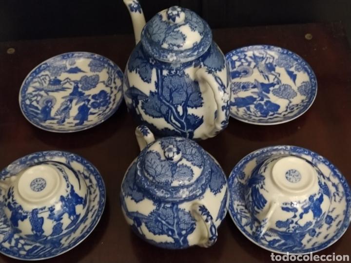 Antigüedades: Juego de tu y yo porcelana muy fina japonesa. - Foto 2 - 194739152
