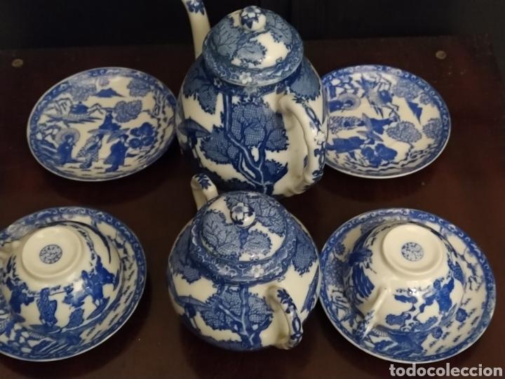 Antigüedades: Juego de tu y yo porcelana muy fina japonesa. - Foto 3 - 194739152