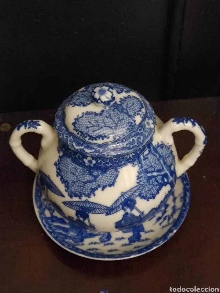 Antigüedades: Juego de tu y yo porcelana muy fina japonesa. - Foto 5 - 194739152