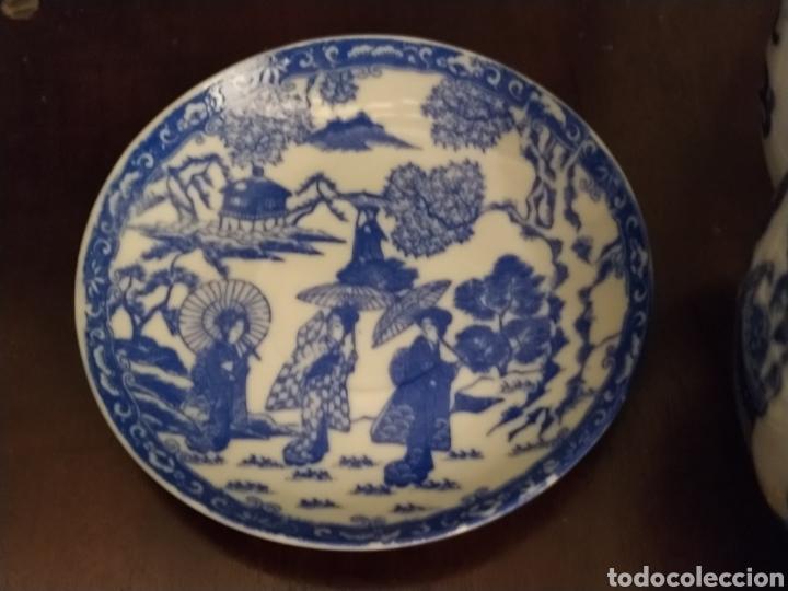 Antigüedades: Juego de tu y yo porcelana muy fina japonesa. - Foto 6 - 194739152